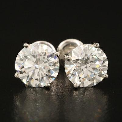 14K 4.86 CTW Diamond Stud Earrings with IGI Diamond Reports