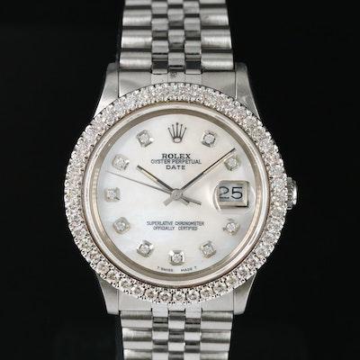 1983 Rolex Datejust 1.61 CTW Diamond Bezel Wristwatch