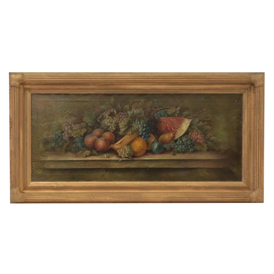 Ulrich Still Life Oil Painting of Fruits, Late 19th-Early 20th Century