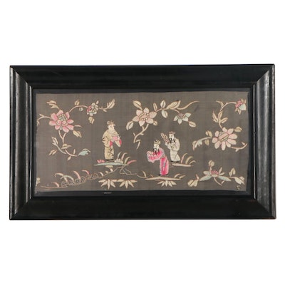 Chinese Silk Embroidery of Figures and Flowers