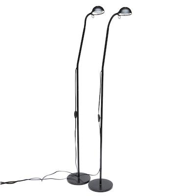 Black Adjustable Floor Standing Task Lamps