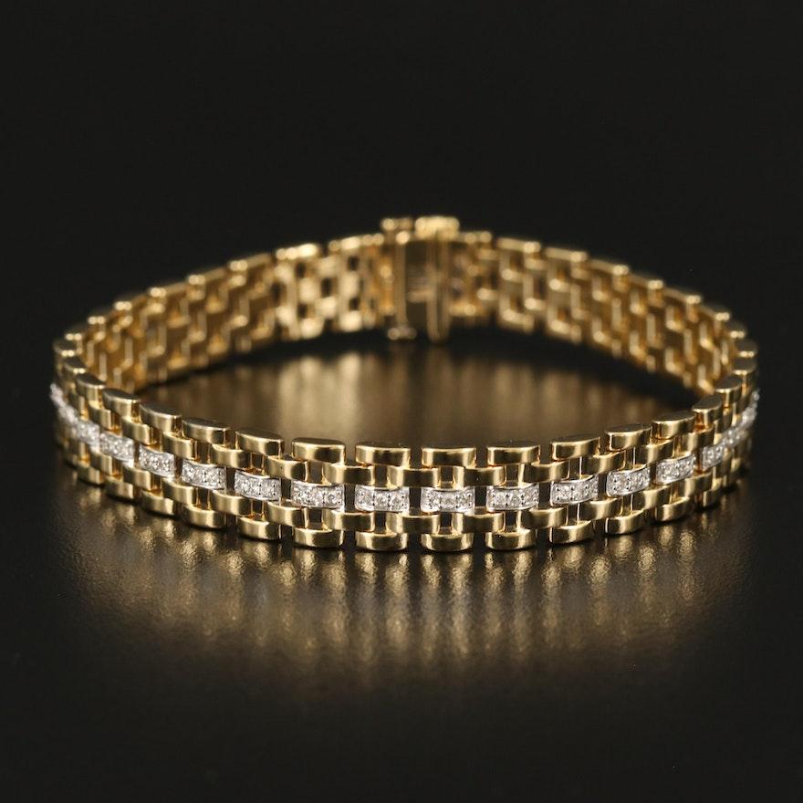 Sterling Silver 1.02 CTW Diamond Bracelet