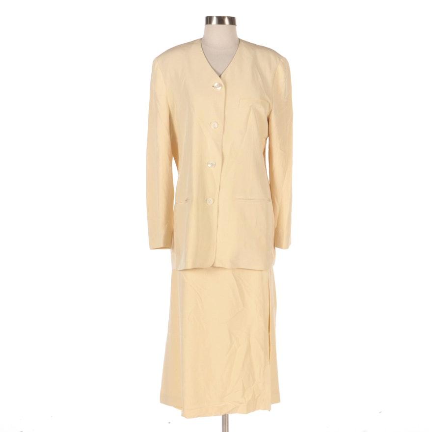 Adrienne Vittadini Collection Silk Skirt Suit