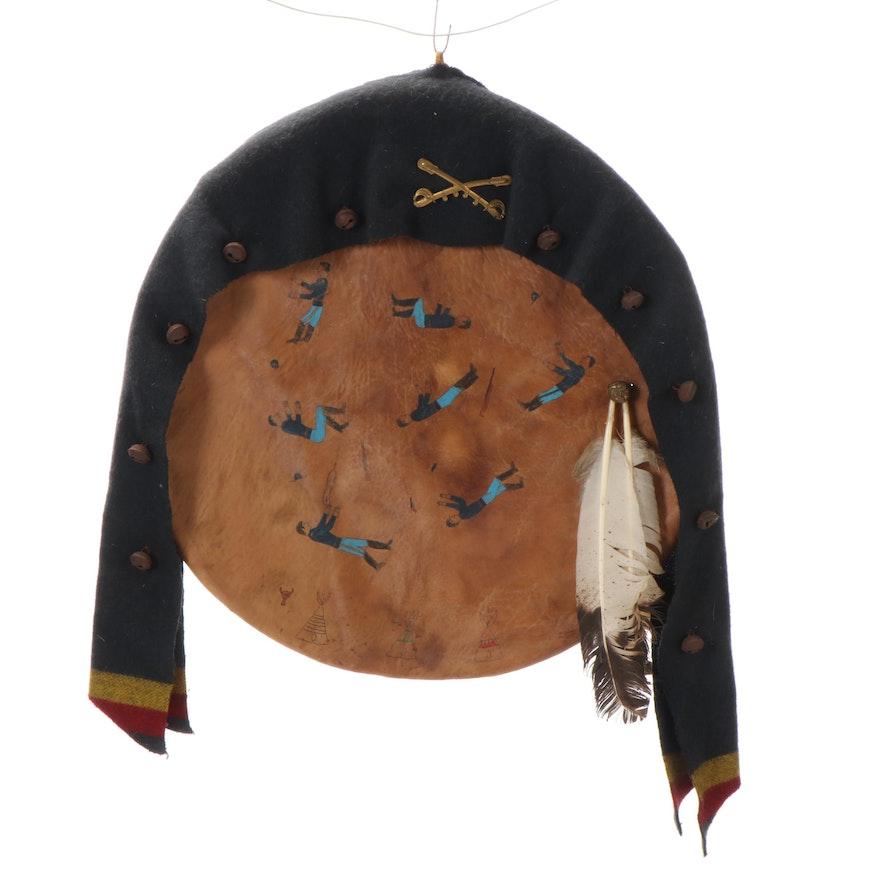 "Santee Sioux Medicine Shield ""Sitting Bull's Dream,"" Circa 2000"