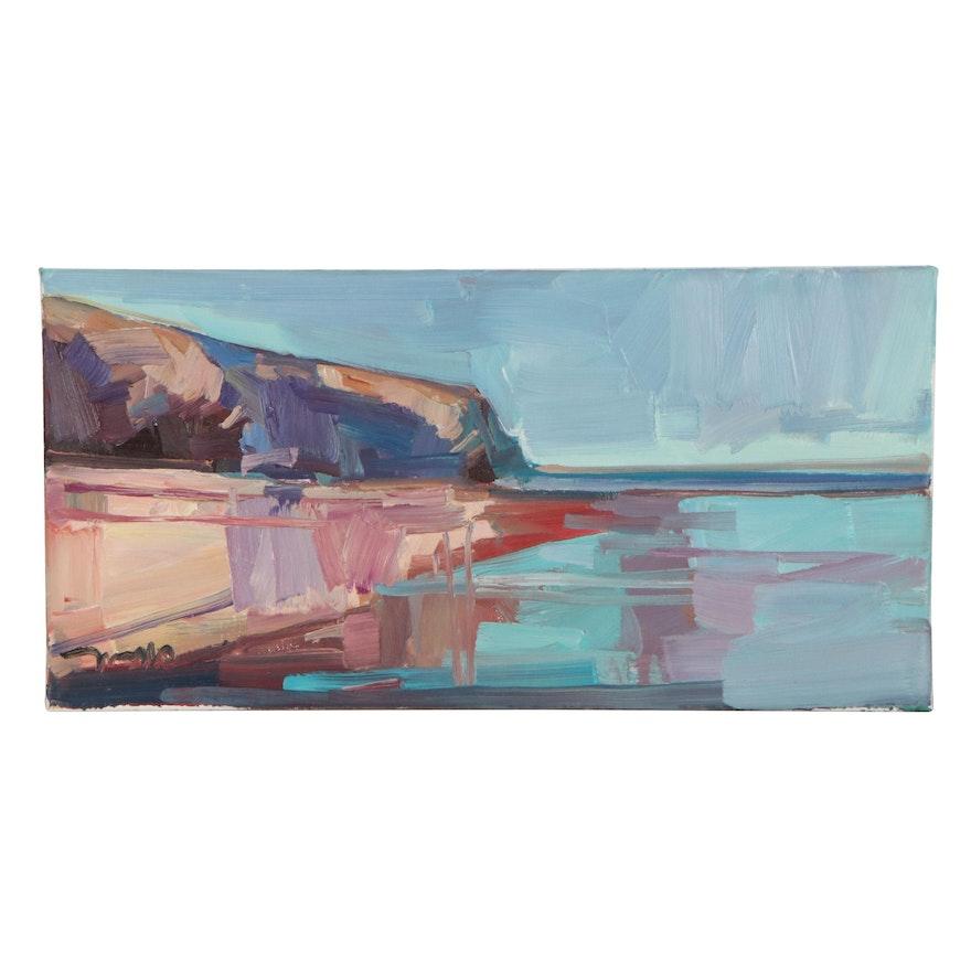 """Jose Trujillo Oil Painting """"Harbor Light"""""""