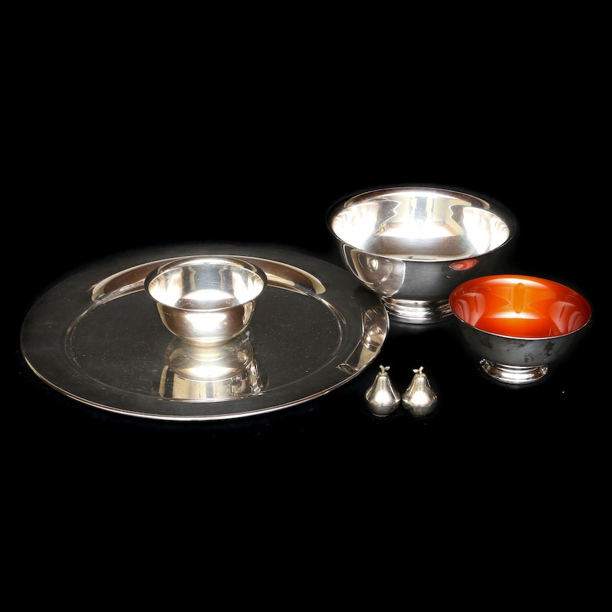 Gorham and Reed and Barton Silver Plate Revere Style Bowls and Other Tableware
