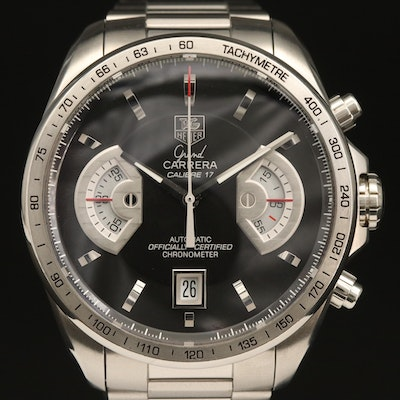 TAG Heuer Grand Carrera Calibre 17RS Chronograph Stainless Steel Wristwatch