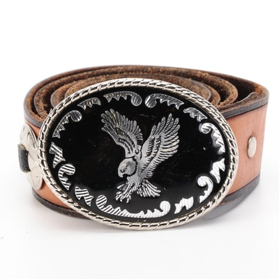 Harley-Davidson Embellished and Tooled Leather Belt