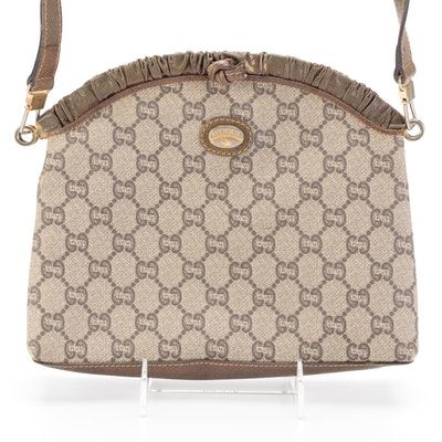 Gucci Plus Frame Top Crossbody Bag in GG Plus Coated Canvas