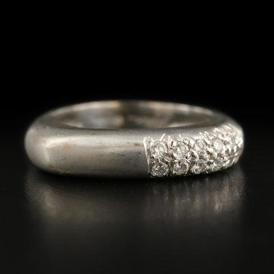 Marlene Stowe 18K Diamond Ring with Matte Finish