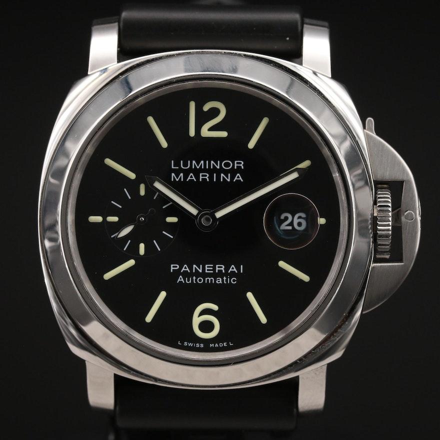 Panerai Luminor Marina PAM104 Stainless Steel Automatic Wristwatch