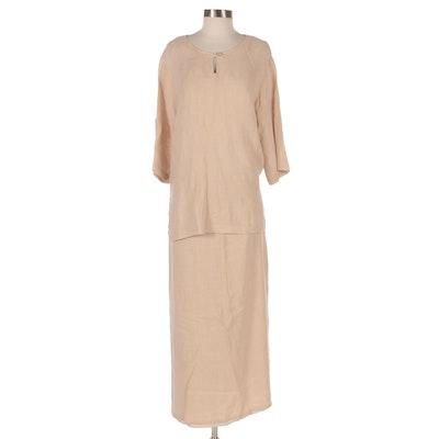 David Dart Collection Linen Skirt Set