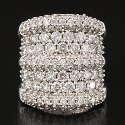 14K Multi-Row 5.00 CTW Diamond Wide Tapered Band