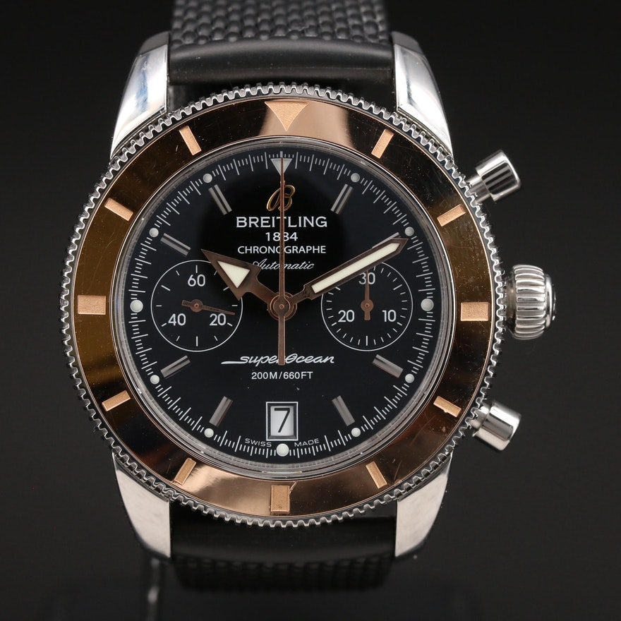 Breitling SuperOcean Heritage Chronograph 18K and Stainless Steel Wristwatch