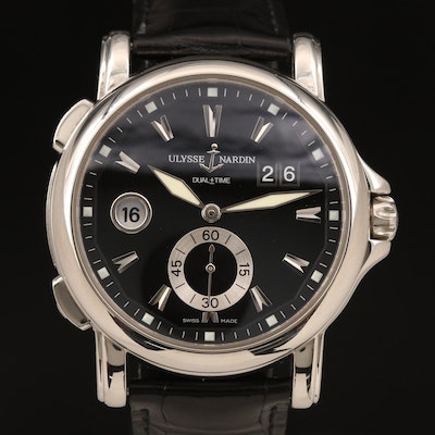 Ulysse Nardin Dual Time Big Date Stainless Steel Automatic Wristwatch
