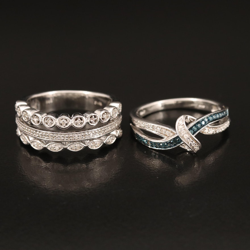 Sterling Diamond Band and Diamond Crossover Band
