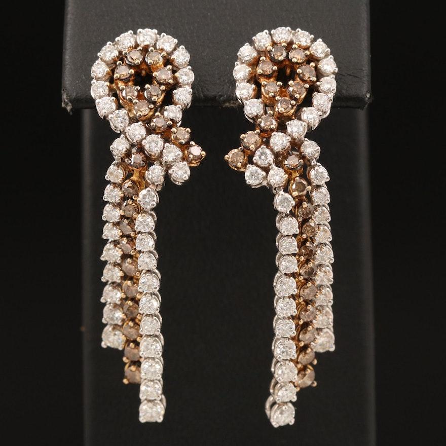 18K 3.86 CTW Diamond Waterfall Earrings