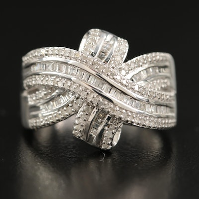 Sterling Diamond Crossover Band