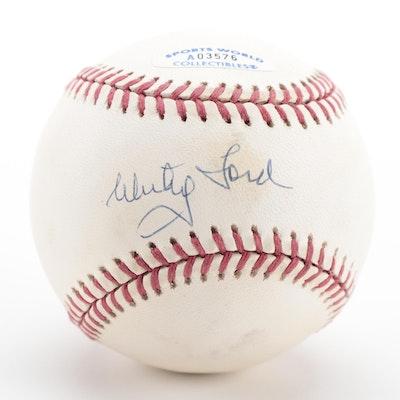 Whitey Ford Signed Rawlings American League Baseball, COA