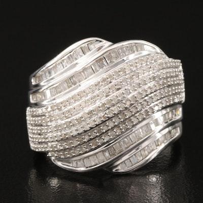 Sterling 1.02 CTW Diamond Ring