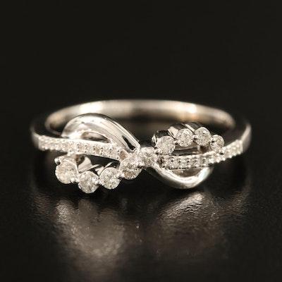 Sterling Diamond Infinity Ring
