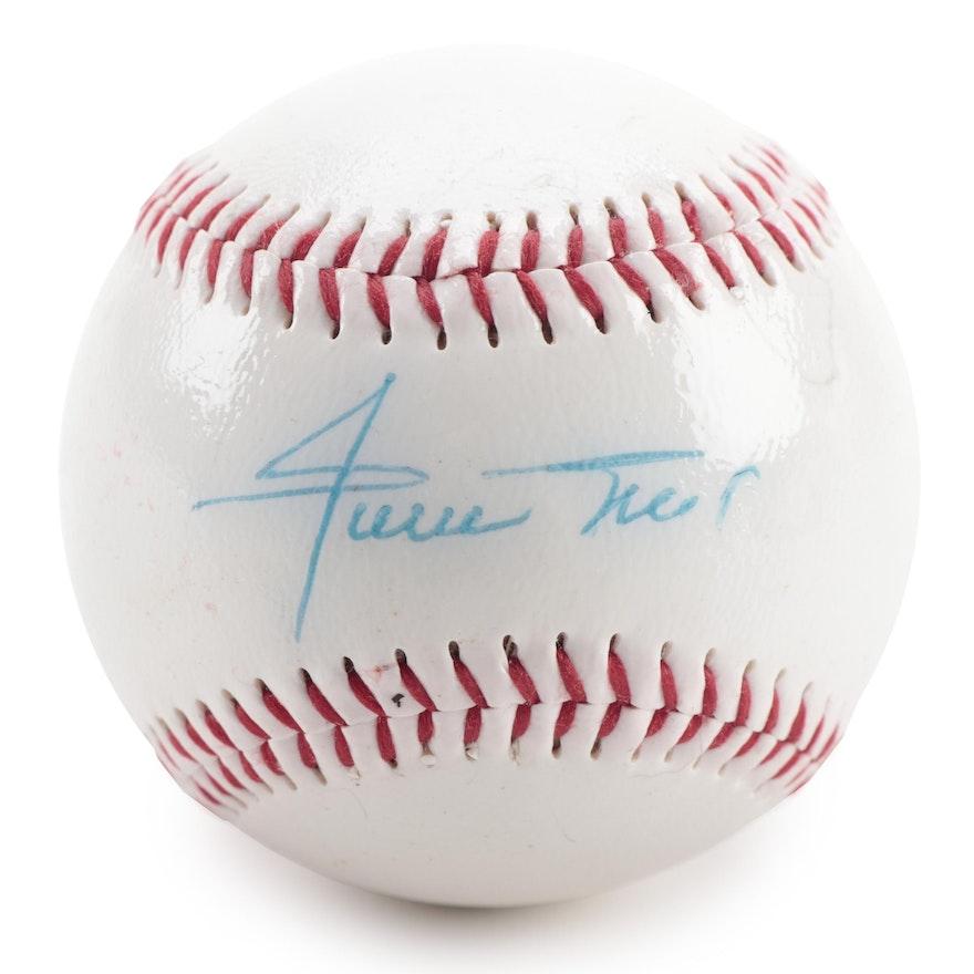 Willie Mays Signed Dunlop Baseball, COA