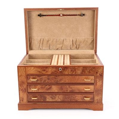 Agresti Burled Maple Veneer Jewelry Box