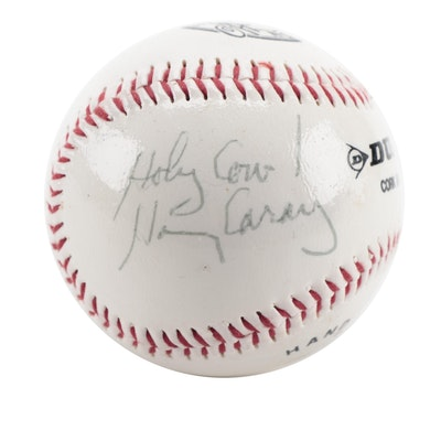 "Harry Caray ""Holy Cow!"" Signed Dunlop Baseball, COA"