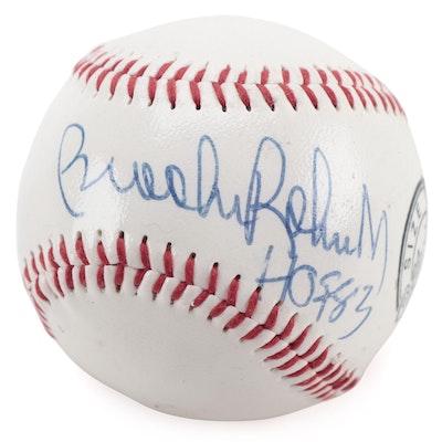 """Brooks Robinson Signed """"HOF 83"""" Dunlop Official Baseball, COA"""