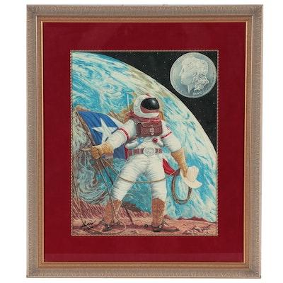 "Don Boyer Giclée ""Space Cowboy Mission 2000,"" 1999"