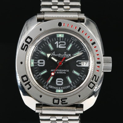 Vostok Amphibia Stainless Steel Automatic Wristwatch