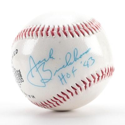 """Jack Brickhouse Signed """"HOF '83"""" Dunlop Baseball, COA"""