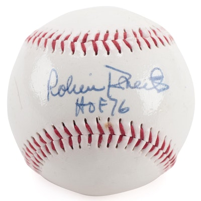 """Robin Roberts Signed """"HOF 76"""" Dunlop Baseball, COA"""