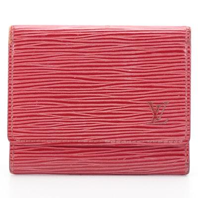 Louis Vuitton Enveloppe Cartes de Visite in Epi Leather