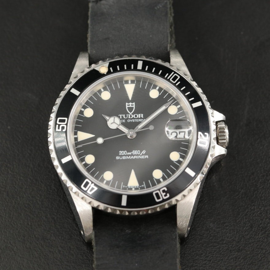 1992 Tudor Submariner 75090 Stainless Steel Automatic Wristwatch