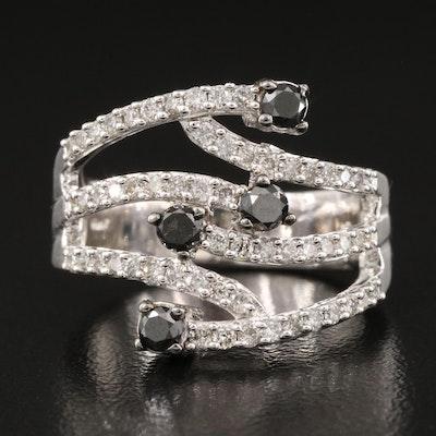 Sterling 1.04 CTW Diamond Openwork Ring