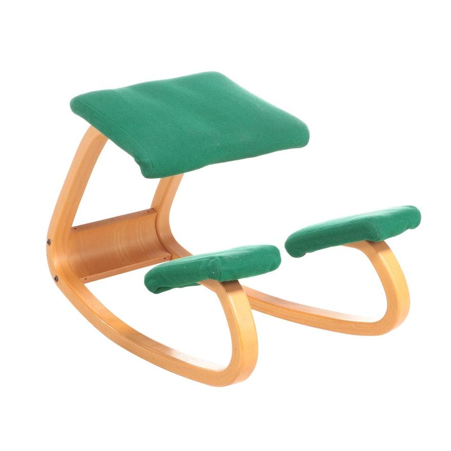 """Stokke Fabrikker """"Balans Variable"""" Ergonomic Kneeling Chair, Late 20th C."""