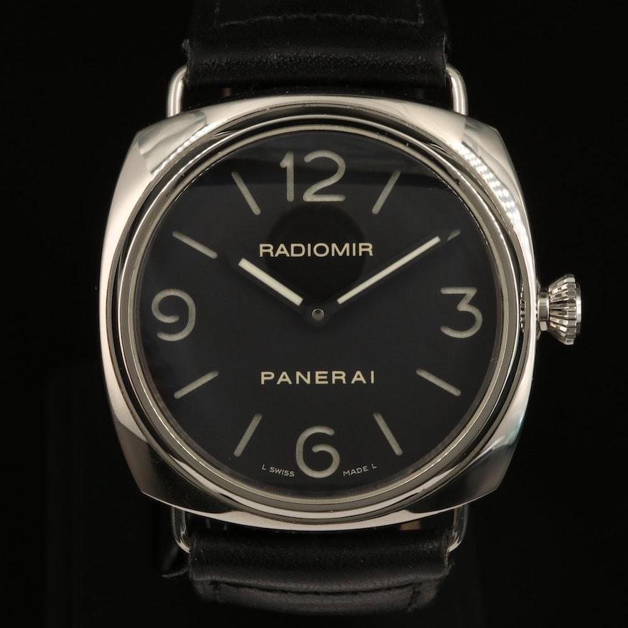 Panerai Radiomir Base PAM210 Stainless Steel Stem Wind Wristwatch