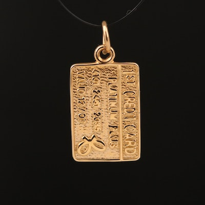 14K First Credit Card Charm