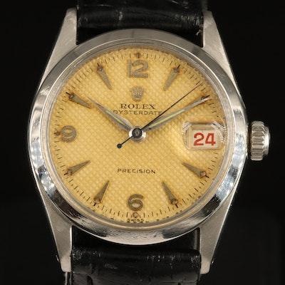 1955 Rolex Oysterdate Stainless Steel Wristwatch