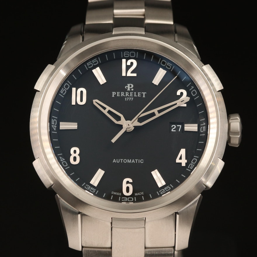Perrelet Class T Stainless Steel Automatic Wristwatch