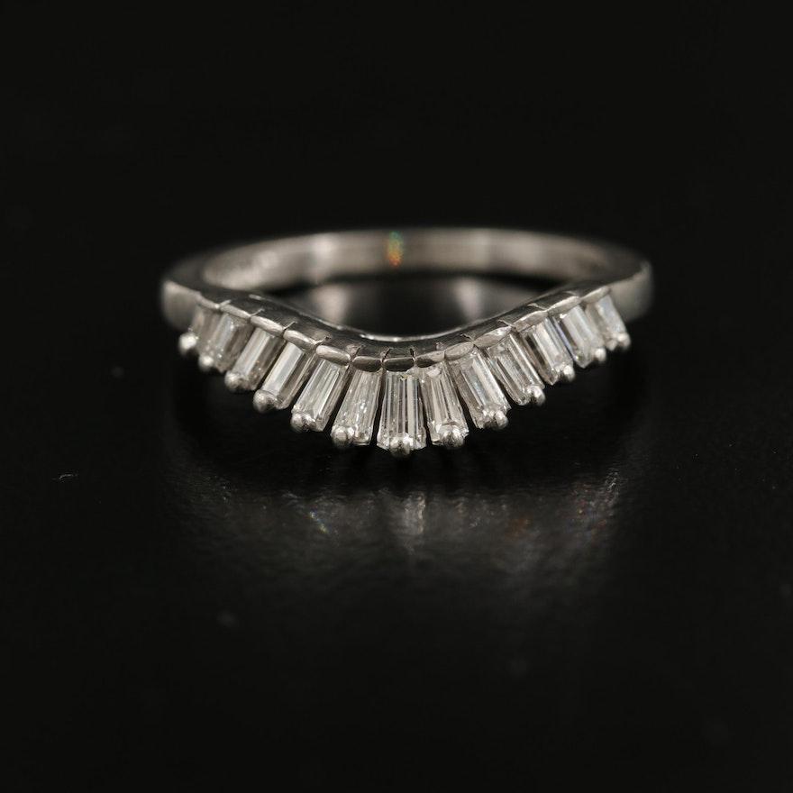 Platinum 0.34 CTW Diamond Enhancer Ring