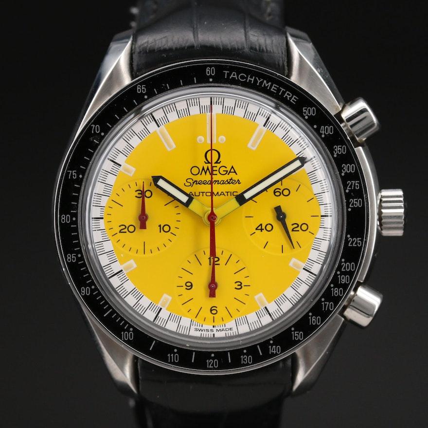 1996 Omega Speedmaster Reduced Schumacher Stainless Steel Automatic Wristwatch
