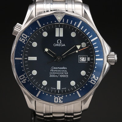1999 Omega Seamaster Diver 300M Stainless Steel Automatic Wristwatch