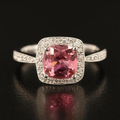 Jude Frances Jewelry 18K Tourmaline and Diamond Ring