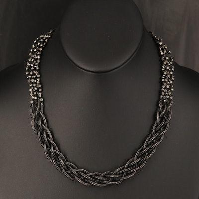 Erickson Beamon Crystal Braided Necklace
