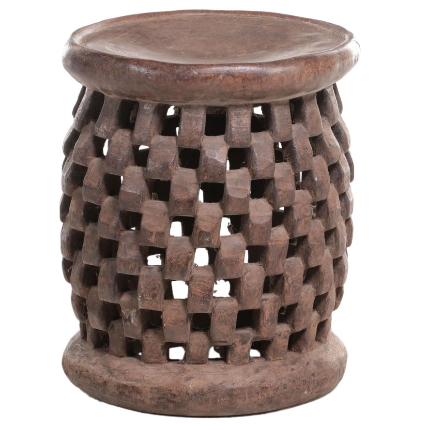 Cameroonian Style Carved Wood Stool