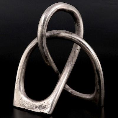 John-Richard Collection Looped Metal Sculpture