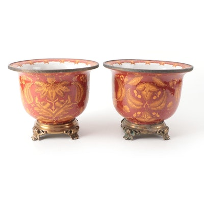 Ormolu Mounted Ceramic Planters, Late 20th to 21st Century