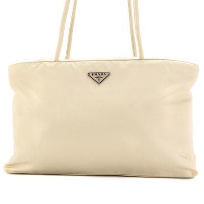 Prada Beige Nylon Tessuto Shoulder Bag
